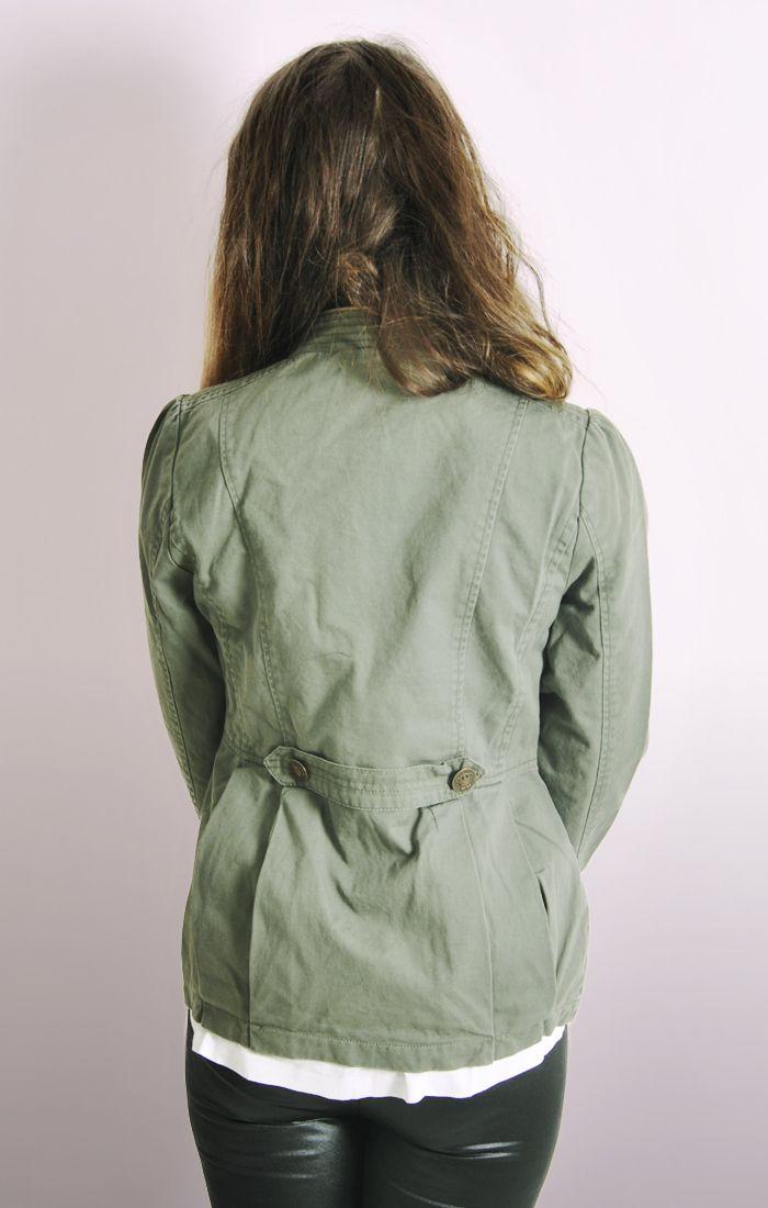 Ladies Khaki Military Jacket